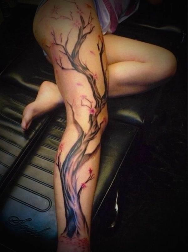 Thigh Tattoos for Women.23