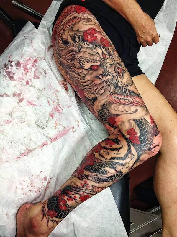 Thigh Tattoos for Women.24