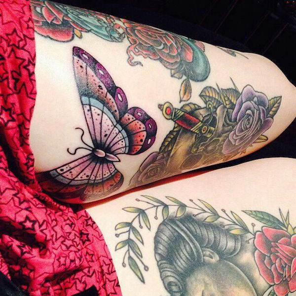 Thigh Tattoos for Women.25