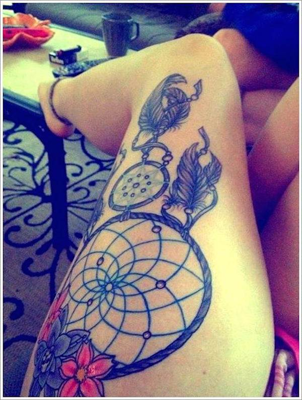 Thigh Tattoos for Women.6
