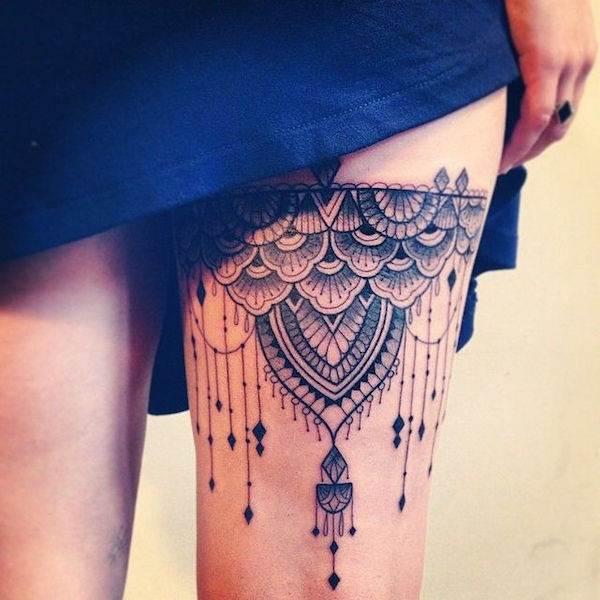 Thigh Tattoos for Women.7