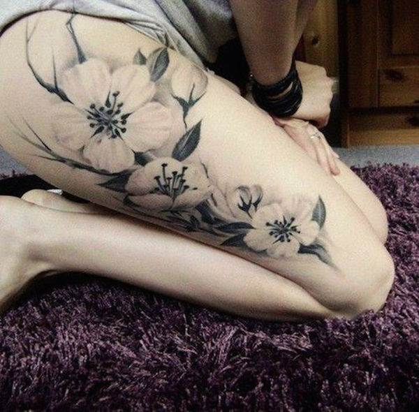 Thigh Tattoos for Women.8