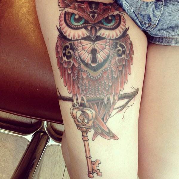Thigh Tattoos for Women.46
