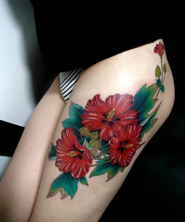 Thigh Tattoos for Women.47