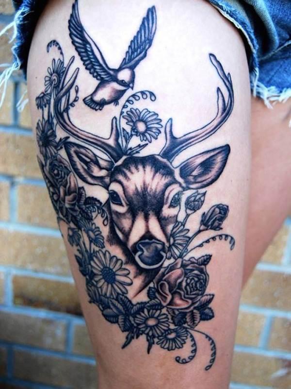 Thigh Tattoos for Women.29