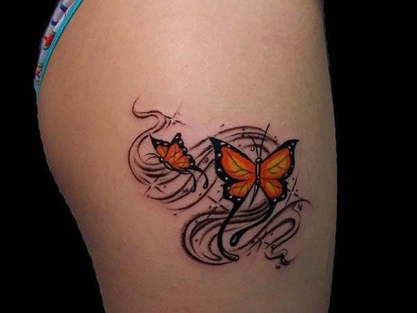 Thigh Tattoos for Women.48