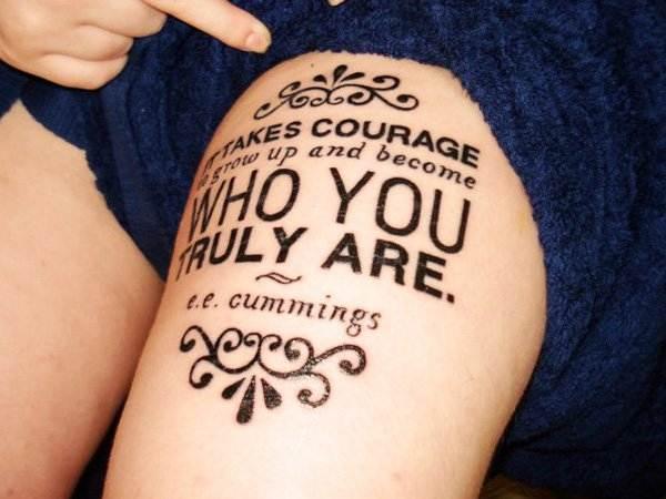 Thigh Tattoos for Women.50