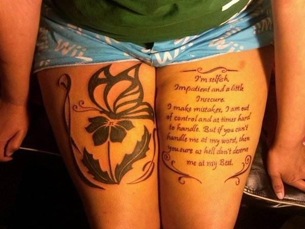 Thigh Tattoos for Women.52