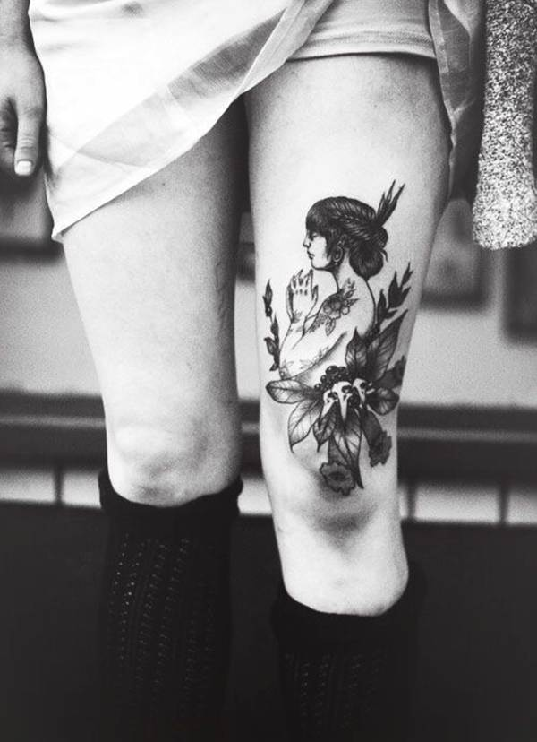 Thigh Tattoos for Women.56
