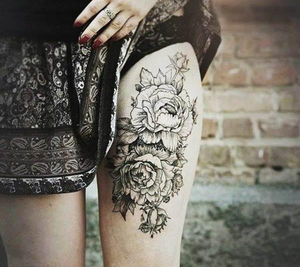 Thigh Tattoos for Women.57