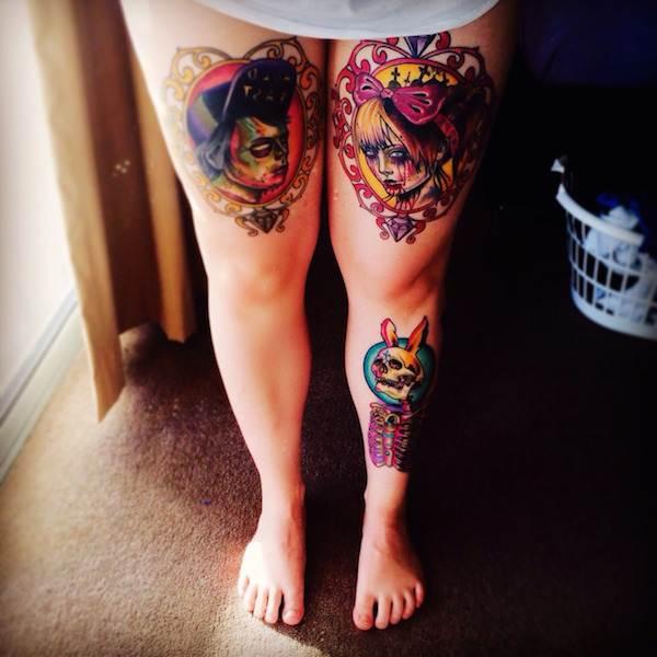 Thigh Tattoos for Women.30