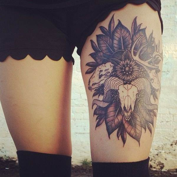 Thigh Tattoos for Women.59