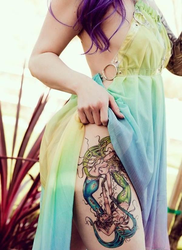 Thigh Tattoos for Women.61