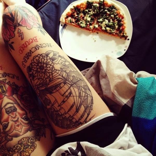 Thigh Tattoos for Women.64