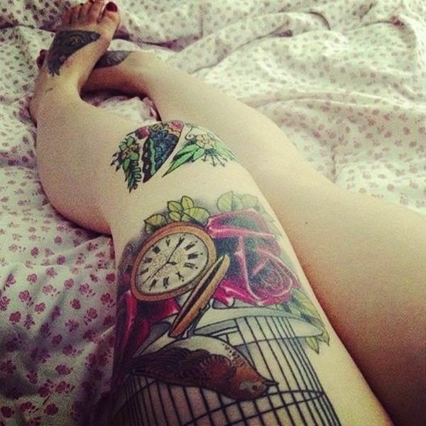 Thigh Tattoos for Women.66