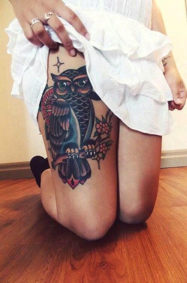 Thigh Tattoos for Women.68