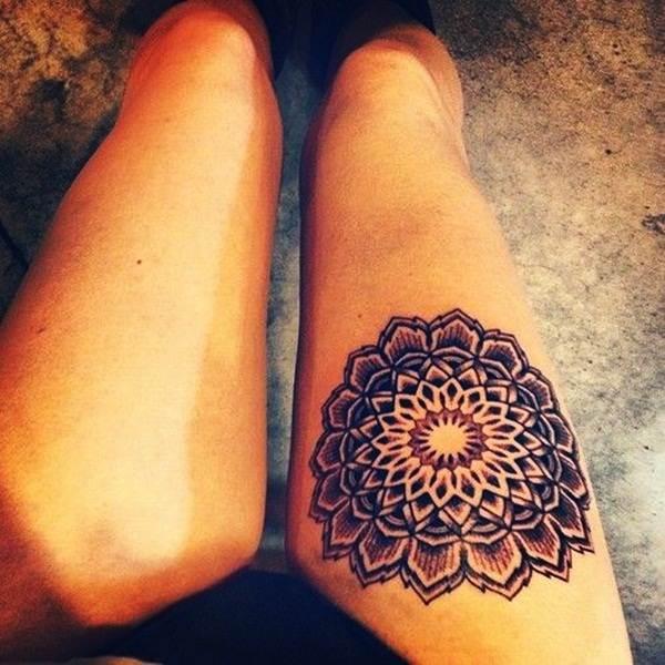 Thigh Tattoos for Women.69