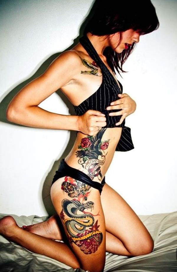 Thigh Tattoos for Women.70