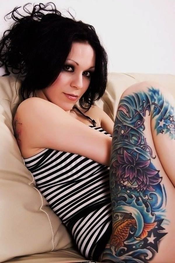 Thigh Tattoos for Women.73