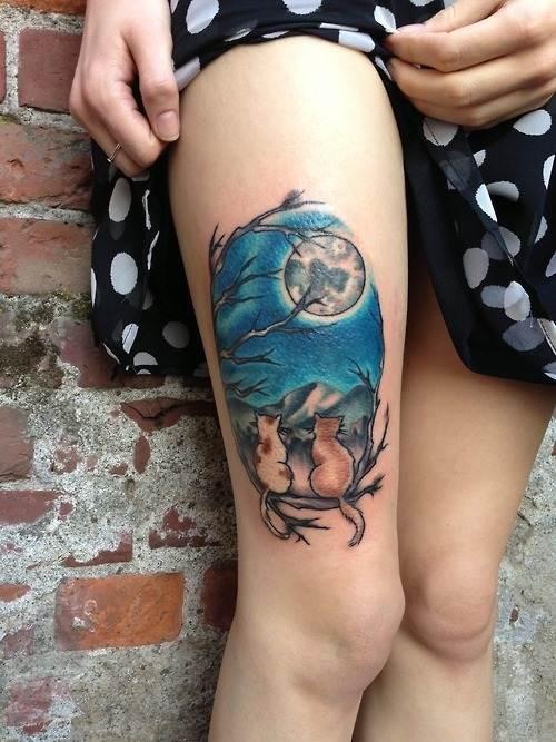 Thigh Tattoos for Women.77