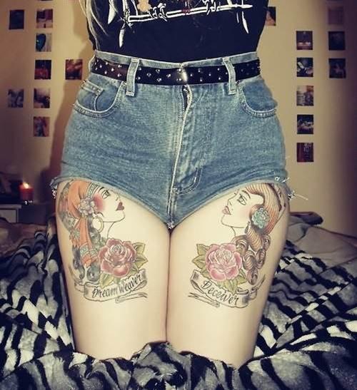 Thigh Tattoos for Women.78