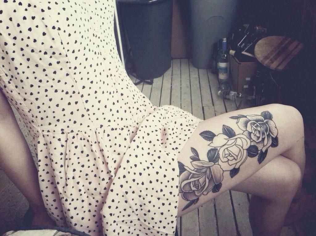 Thigh Tattoos for Women.79