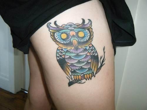 Thigh Tattoos for Women.94