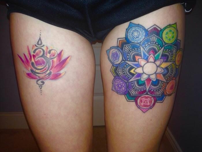 Thigh Tattoos for Women.96