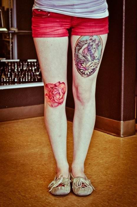 Thigh Tattoos for Women.107