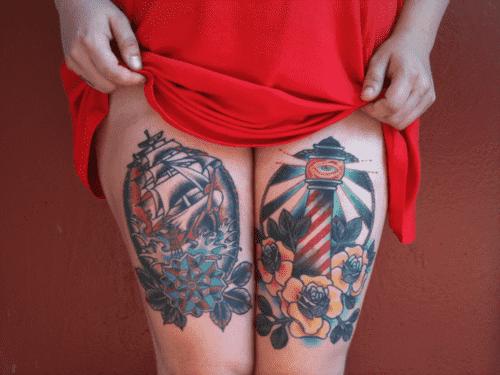 Thigh Tattoos for Women.92