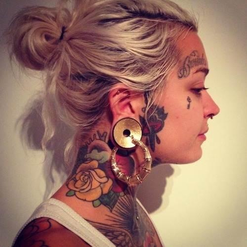 neck tattoos.66