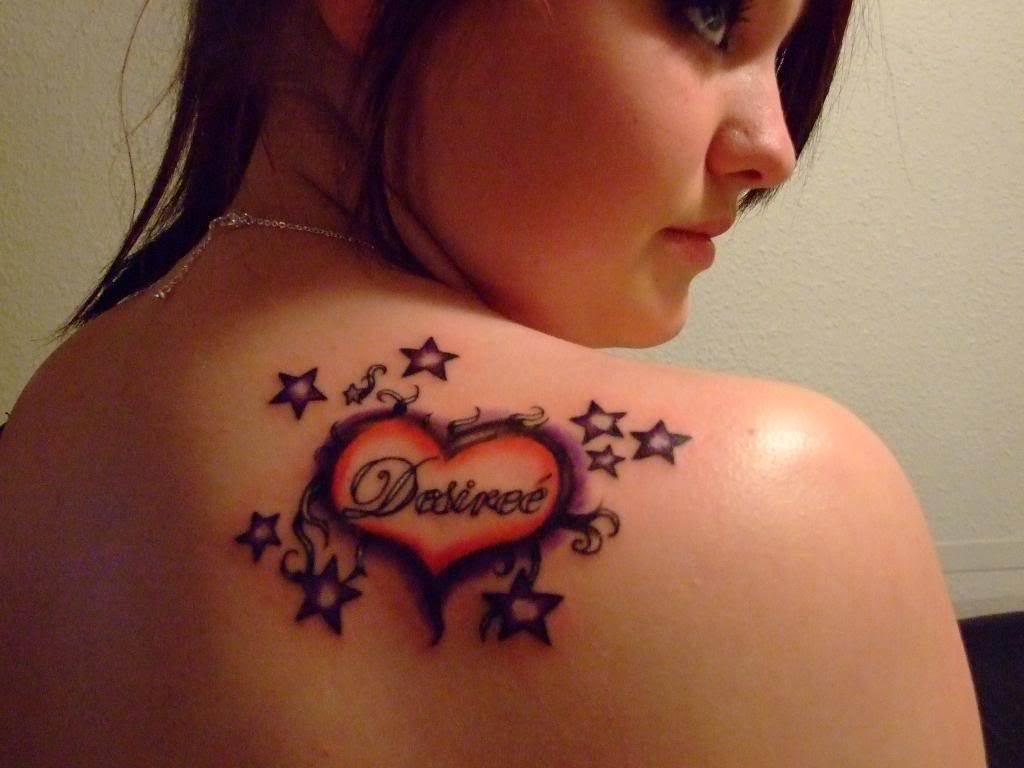 Heart and Stars Tattoos