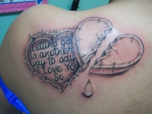 Broken heart Tattoo for men