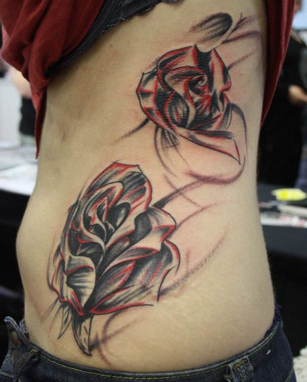 Rose Tattoo Designs for Girls25