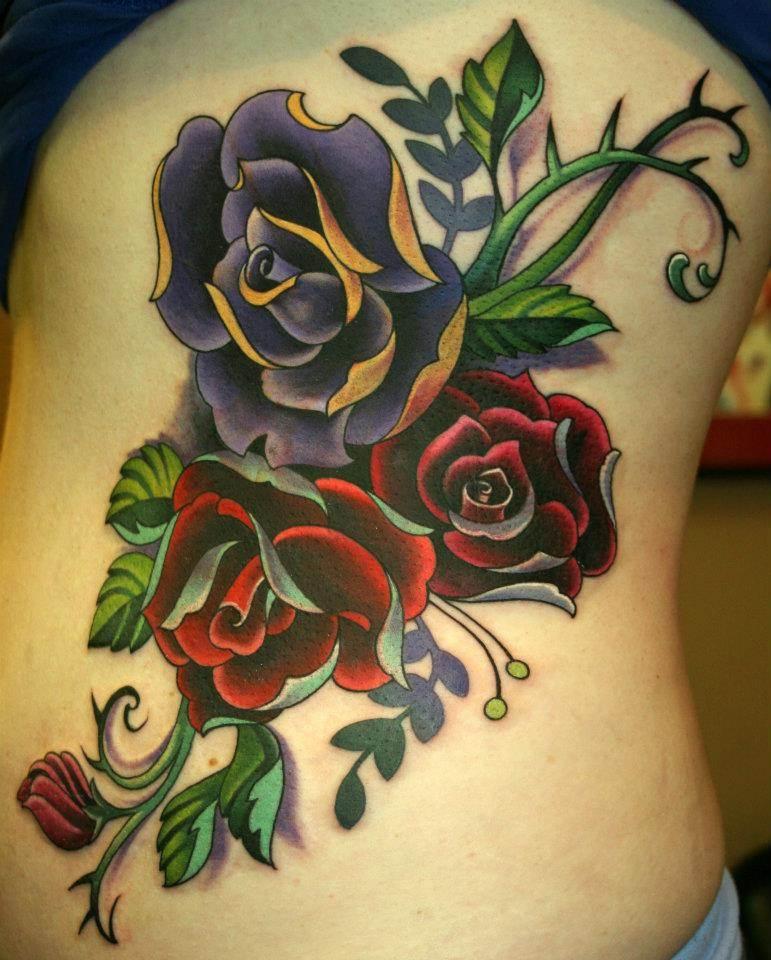 Rose Tattoo Designs for Girls2