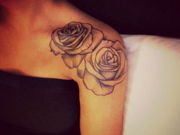 Rose Tattoo Designs for Girls38