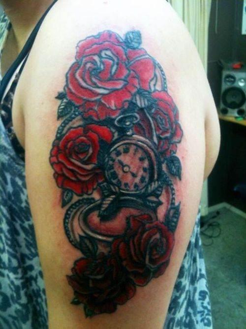 Rose Tattoo Designs for Girls33