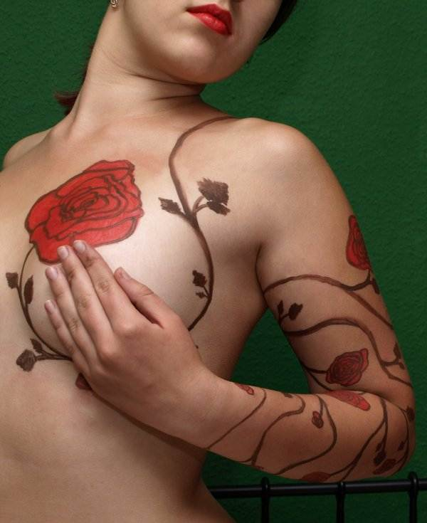 Rose Tattoo Designs for Girls34