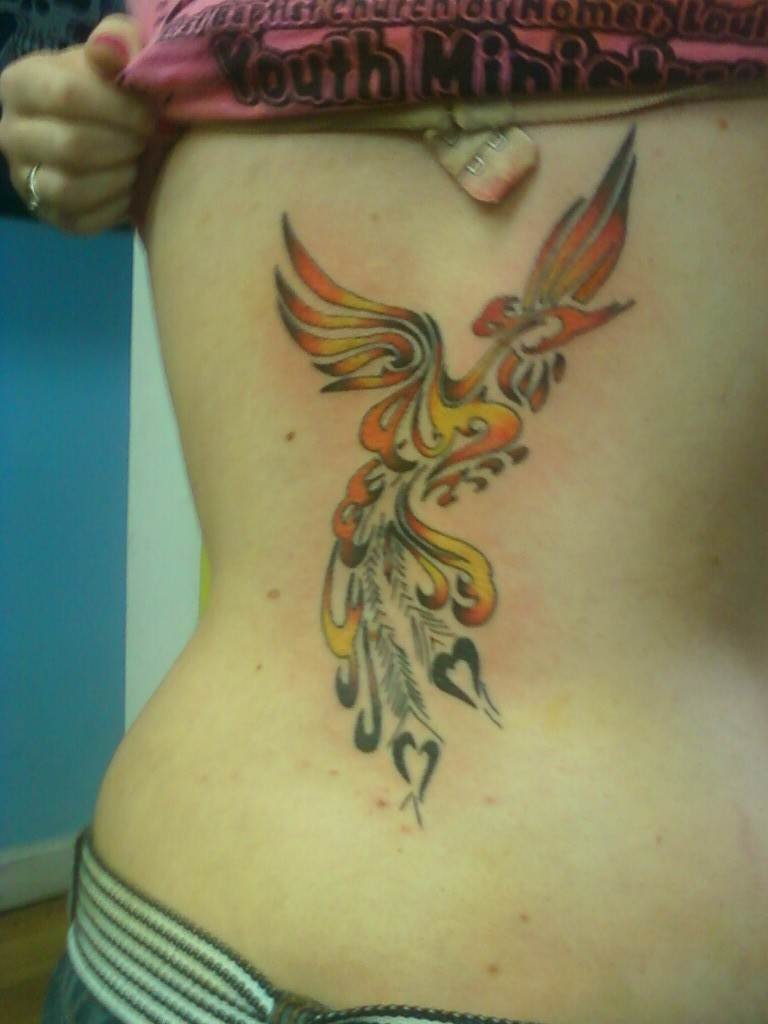 Angel phoenix Tattoo for Women