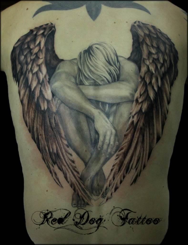 Back Angel Tattoo