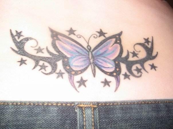 Lower Back Butterfly Design