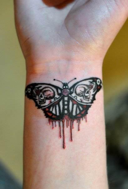 Bleeding Butterfly Tattoo