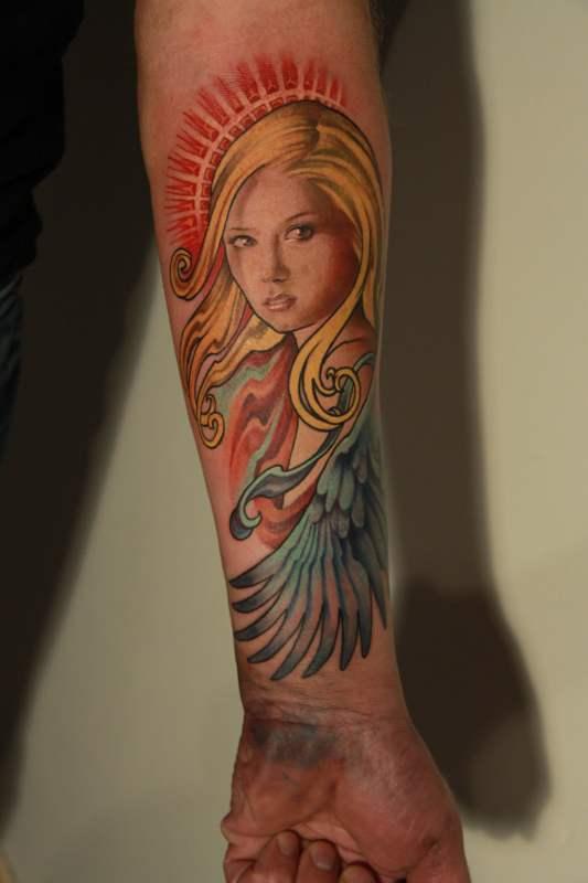 Hand Angel Tattoo