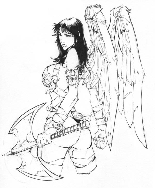 Angel Tattoo Design Commission