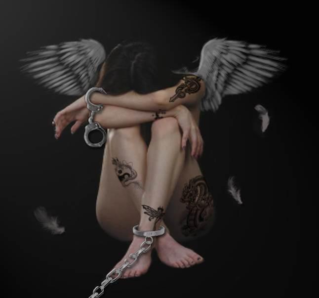 Bondage Angel Tattoo