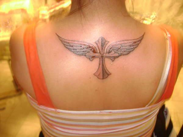 Angel wings with Cross