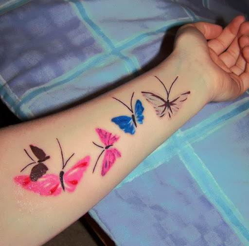 Wrist Butterfly Tattoo Design