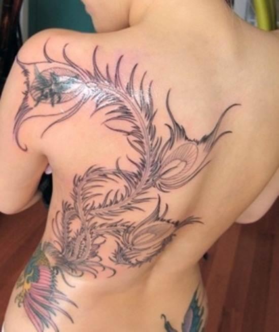 back waist tattoos (21)
