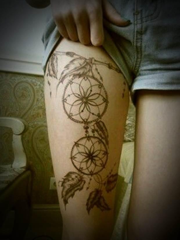 Sexy Leg Tattoo Designs for Women (43)