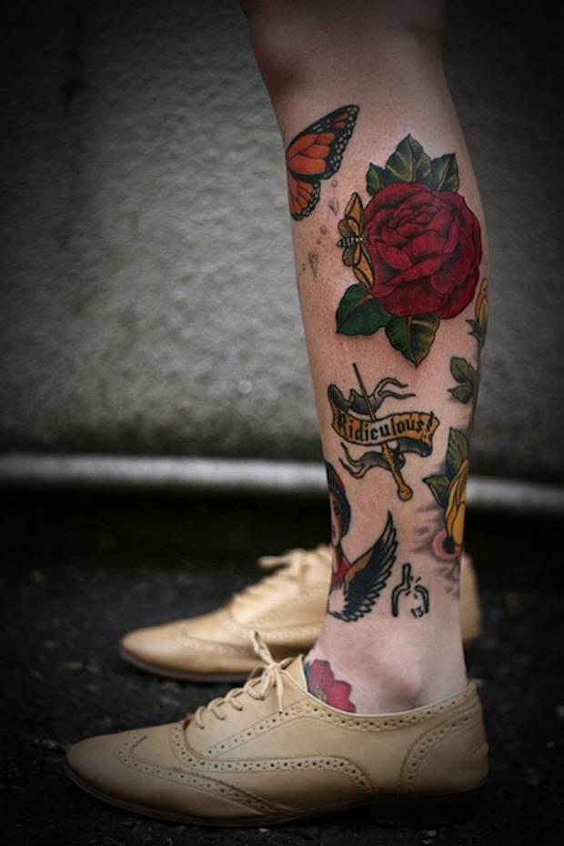 Sexy Leg Tattoo Designs for Women (41)